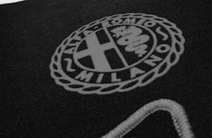 Black Velours Trunk Carpet Set for Alfa Romeo Sprint GT GTJ GTV (Bertone) gray