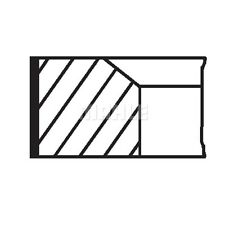 MAHLE ORIGINAL Piston Ring Kit Piston Ring Kit 010 20 N0