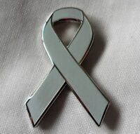 ***NEW*** Asthma Awareness ribbon enamel badge / brooch.Charity.