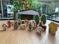 Weihnachtskrippe Holz Modern Krippenfiguren Krippe Spielzeug Holzfiguren Neu