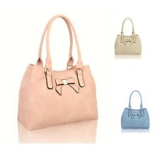 Woman Lady Synthetic Leather Medium Bowknot Tote Commuting Shoulder Handbag UK