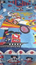 """Vintage fabric '60s """"Chitty Chitty Bang Bang"""" Kenneth Townsend style bedspread"""