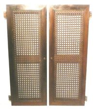 vIntage RCA RADIOLA 64 RADIO part for sale:  2 BACK WICKER DOORS with hardware