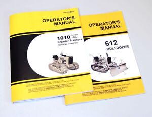 OPERATOR MANUAL SET FOR JOHN DEERE 1010 CRAWLER TRACTOR 612 DOZER BULLDOZER