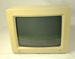 Vtg Apple Color RGB Monitor A2M6014 Apple IIgs Powers On For parts/repair AS IS