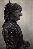 1919/72 Vintage OLD WOMAN Lady Fashion Dress Hungary Photo Art By ANDRE KERTESZ