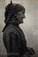 1919/72 Vintage OLD WOMAN Lady Fashion Dress Hungary Photo Art By ANDRE KERTESZ