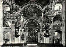 Kirchen Motiv-Postkarte Schweiz Einsiedeln Kloster Wallfahrtskirche Innen ~1970