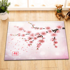 Home Bath Mat Bedroom Kitchen Rug Floor Carpet Doormat Spring Cherry Blossoms