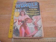 Thrilling Wonder Stories 1950 #20 pulp magazine sexy Arthur C Clarke L Ron Hubbr