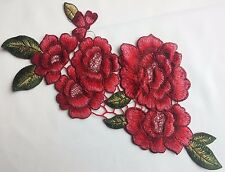 Colourful Floral Embroidery Applique Motif Lace Sewing Trim Haberdashery -EB0263