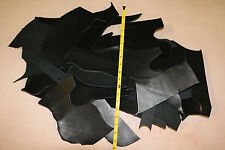5 Lbs Scrap Leather Cowhide 7-10oz Assorted Sizes Black Vegetable Tanned