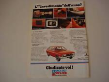 advertising Pubblicità 1975 SIMCA 1307/1308