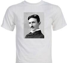Nikola Tesla Portrait Famous Scientist Conspiracy T-shirt