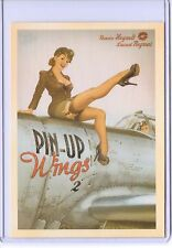 VINTAGE PIN-UP WINGS 2 SEXY LADY PLANE WAR ADVERTISING REPRODUCTION POSTCARD