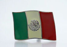 MEXICO MEXICAN FLAG GLASS BUCKLE QUALITY MEN'S FASHION DRESS PANT BELT BUCKLES