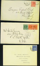 British Commonwealth 1920'S Five Covers K. George V Iss