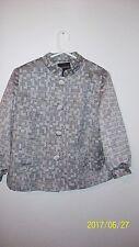 ladies size 14 jacket George short metalic thread thru out oblong circles 3/4 sl