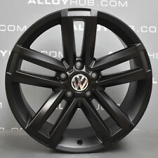 "GENUINE VW AMAROK CANTERA HIGHLINE 19"" INCH BLACK ALLOY WHEELS X4"