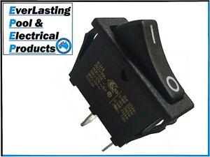 Black 2 Pin On / Off Rocker Switch 20A 125VAC / 16A 250VAC