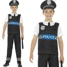 Childs Boys Cop Fancy Dress Costume Police Boy Kids Outfit by Smiffys New