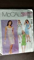 McCall's 3160 Pattern empire summer Dress & Bag Size 4-6-8 uncut Scoop neckline