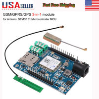 A7 GSM GPRS GPS 3 in 1 Module GSM/GPRS IPEX Antenna DC 5-9V for Arduino STM32 51