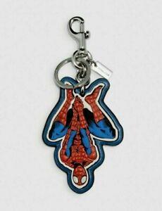 Coach X Spider Man Leather Bag Charm Key Chain Marvel SEALED 2756 NWT