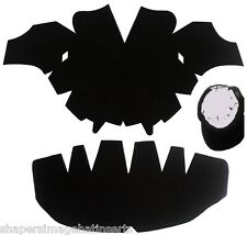 3Pk. BLACK-One Size Fits All Caps Insert & Panel Hat Shaper Combo| Hat Liner