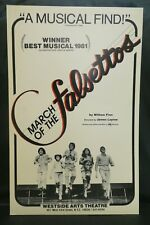 """March of The Falsettos Theater Broadway Window Card Poster 14"""" x 22"""""""