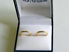 NEW Genuine 9ct 9k 375 Yellow Gold Ladies Hoop Earrings 15 mm Beautiful