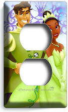 PRINCESS TIANA AND THE FROG PRINCE NAVEEN OUTLET WALL PLATE GIRLS BEDROOM DECOR