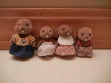 CALICO CRITTERS Sylvanian Family 4pc Beaver Family