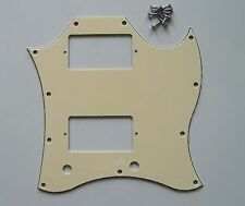 SG Standard Full Face Guitar Pickguard Scratch Plate Light Cream with Screws