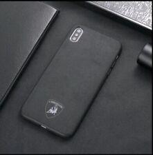 iPhone XR Lamborghini Suede Alcantara Cover Black Phone Case UK