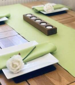 Table Runner & Napkin Set - polyester overlocked with quality cotton thread