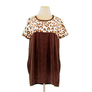 FOXEY Tunic Beige Brown Woman Authentic Used I478