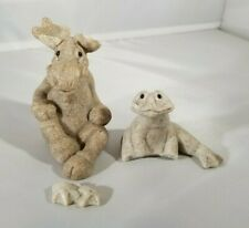 Quarry Critters Mimi Moose & Frita Frog Second Nature Design 2000/1 Stone Figure