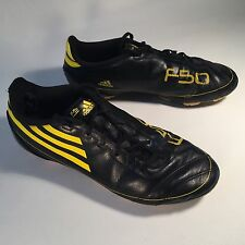0854ea6f7c6b4 ADIDAS F50 Soccer Football Cleats Mens   Youth Size 5.5 Yellow   Black  Traxion