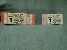 1981 Unused Rolling Stones Ticket: Dallas, Texas Cotton Bowl