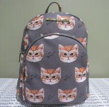 BETSEY JOHNSON Gray Doggy Backpack BM20920 Kittie Cat w/Glasses Purse Bag NWT