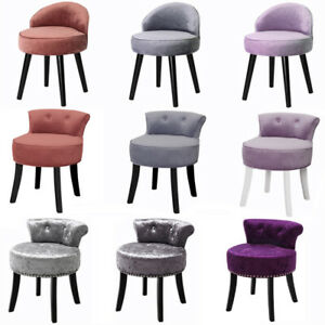 Velvet Dressing Table Stool Bedroom Vanity Makeup Stool Bedroom Chair Piano Seat