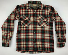 PENDLETON 1950 Vintage Long Sleeve Wool Button Flannel Board Shirt Men Small