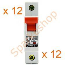 12 x Miniature Circuit Breaker 1 Pole 16A 6kA MCB - $2.50 per MCB Aust. Approved