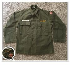 Vtg WWII US Army HBT Herringbone Twill Trousers Utility Combat Shirt Jacket 40