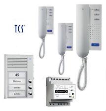 TCS Türsprechanlage Set 3 Wohneinheiten 2-Draht Sprechanlage PPA03-EN/02 NEU