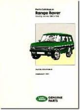 Range Rover Parts Catalogue 1986-1991 by Brooklands Books Ltd (Paperback, 1996)