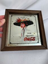 Vintage Coca-Cola Mirror Bar Sign Framed Picture Hamilton Girl
