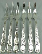 Christofle modèle Villeroy, 6 rares fourchettes à escargots/crustacés.
