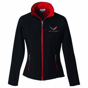 Corvette C7 Ladies Jacket Black/Red Trim